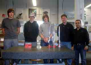 Fadi and other Students with Mr. Lehmann in FESTO Training Center