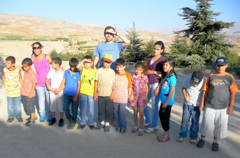 Samuel and Children near Lake Qaroun